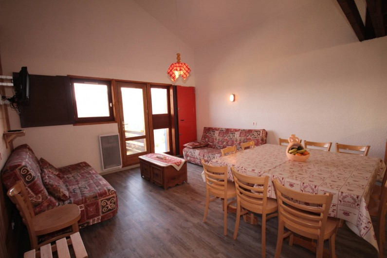 Location de vacances - Chalet à Les Saisies - Appartement Mont-Blanc 14 couchages vue pistes et MT Blanc et les massifs