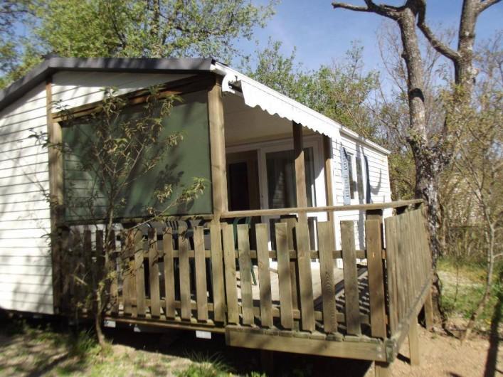 Location de vacances - Camping à Bauduen - Mobil home méditerranée pour 4 personnes