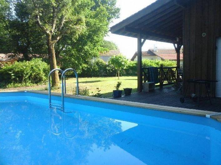 maison en bois piscine 7 personnes zone calme sur