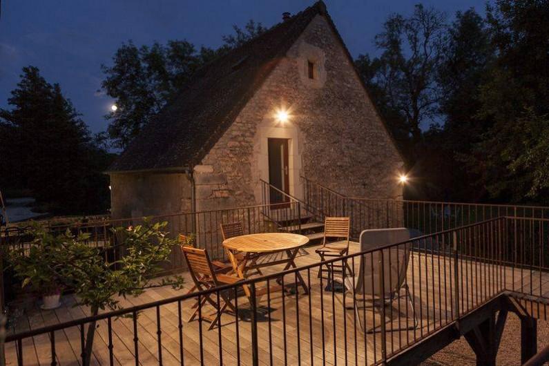 Location de vacances - Gîte à Rix - La terrasse et le cottage indépendant