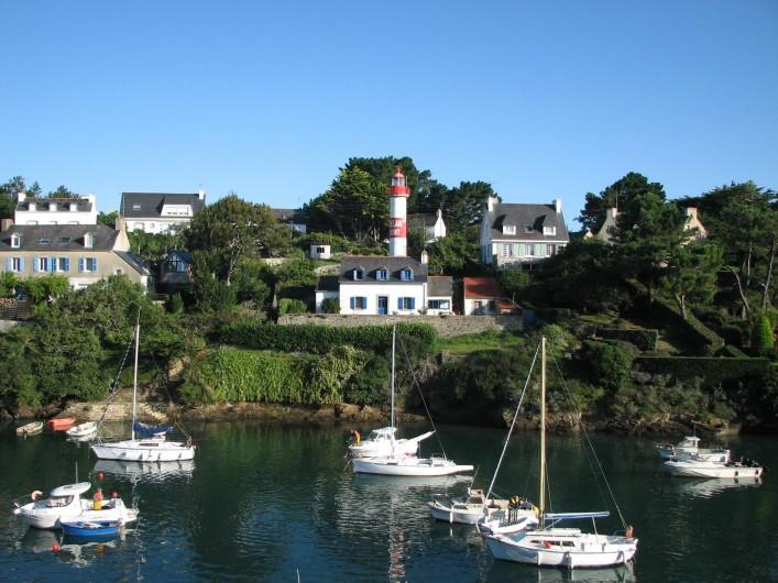 Location de vacances - Appartement à Clohars-Carnoët - la vue du séjour et des chambres
