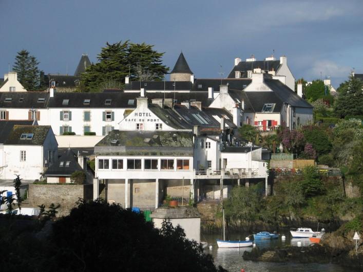 Location de vacances - Appartement à Clohars-Carnoët - plein ouest depuis la cuisine