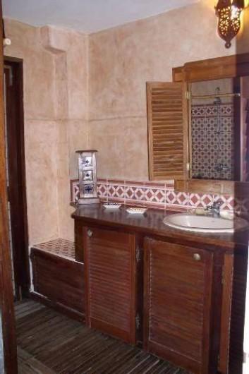 Location de vacances - Villa à La Saline-Les-Bains - Douche - lavabo rez-de-chaussée (Sortie vers Piscine)
