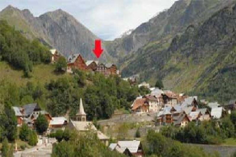 Location de vacances - Appartement à Vaujany - Localisation dans le village