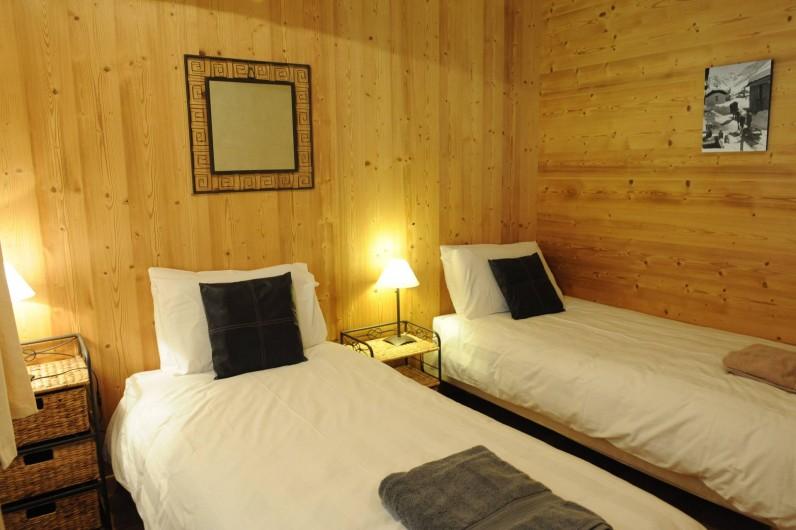 Location de vacances - Appartement à Vaujany - Chambre 2 - deux lits 90cm + possibilité de lit dépliant