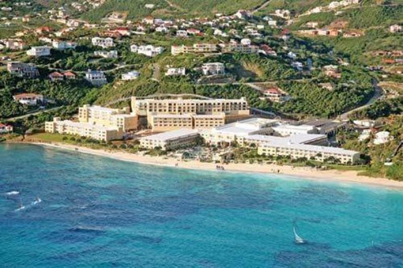 Location de vacances - Appartement à Oyster Pond - vue aérienne hotel & résidence Dawn Beach Club