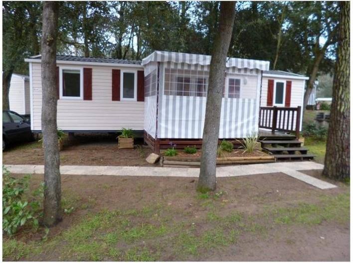 Location de vacances - Bungalow - Mobilhome à Saint-Brevin-les-Pins - Façade et entrée