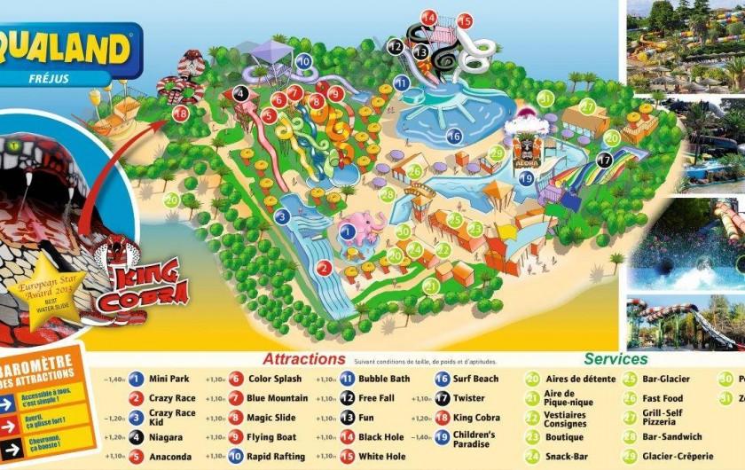 Location de vacances - Bungalow - Mobilhome à Roquebrune-sur-Argens - Aqualand Fréjus à 10 minutes
