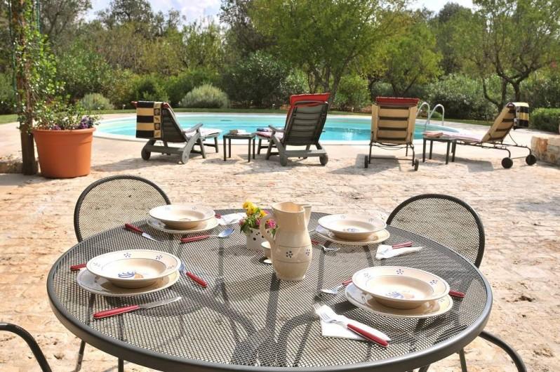 Location de vacances - Villa à Ceglie Messapica - Nous avons deux tables à manger en plein air pour vivre la dolce vita