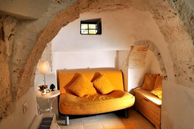 Location de vacances - Villa à Ceglie Messapica - Petit canapé-lit en trulli