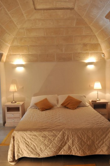 Location de vacances - Villa à Ceglie Messapica - Chambre 1 avec lit double ou lits jumeaux et salle de bain privée