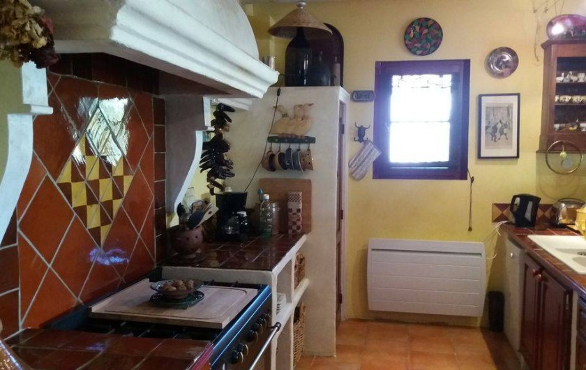 Location de vacances - Maison - Villa à Cheval-Blanc - cuisine ouverte toute équipée