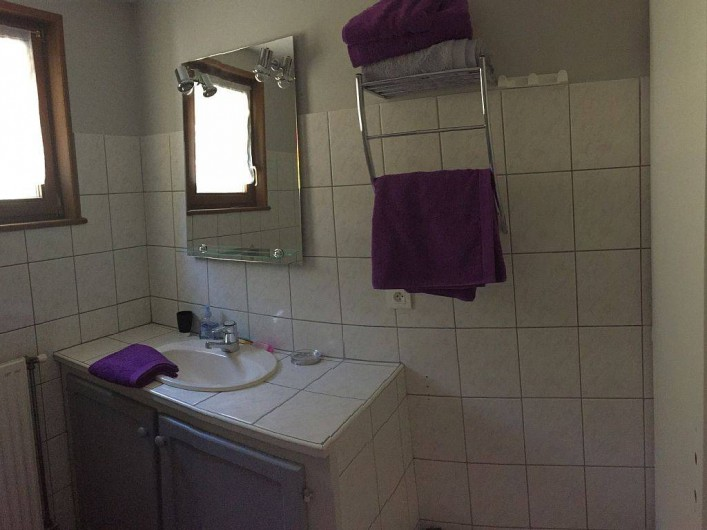 Location de vacances - Gîte à Cleurie - Salle de bain de plein pied, avec douche.