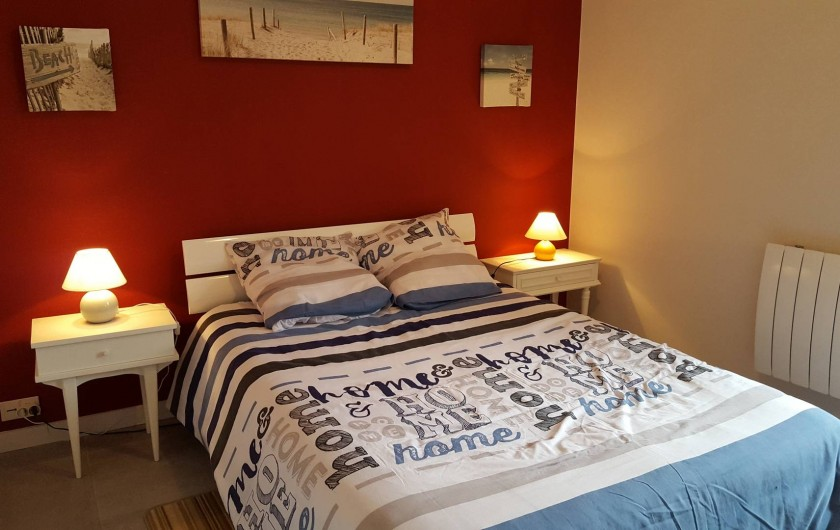 Location de vacances - Appartement à Cancale - Chambre lit en 140