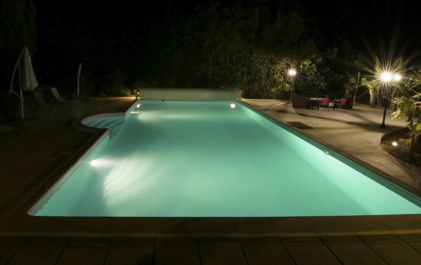 Location de vacances - Chambre d'hôtes à Simeyrols - Piscine accessible jusqu'à minuit