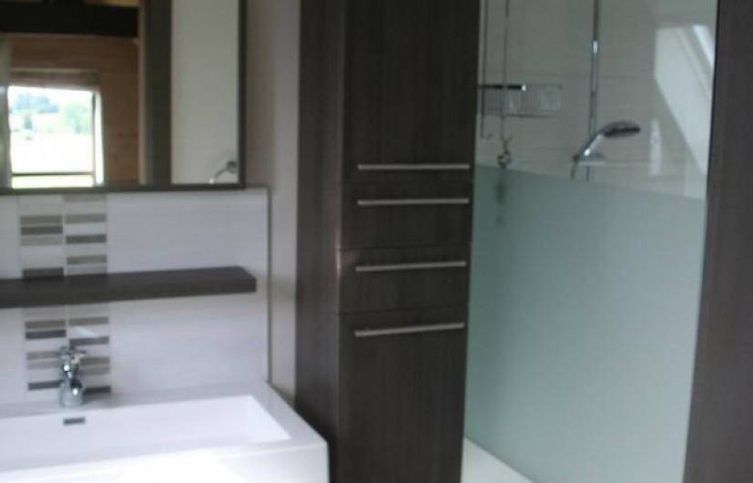 Location de vacances - Gîte à Wodecq - Salle de bain neuve (8 m²) avec douche italienne  et jets pluie.