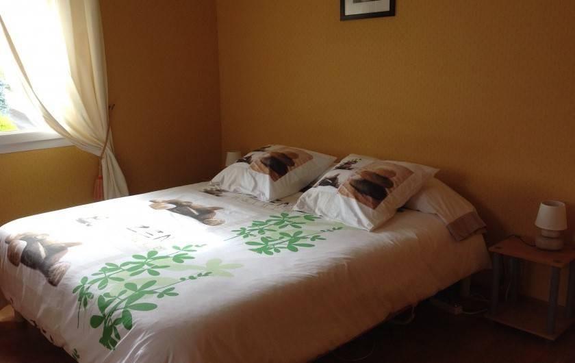 Location de vacances - Maison - Villa à Loguivy - Lit 160x200  Chambre 2  1 er étage