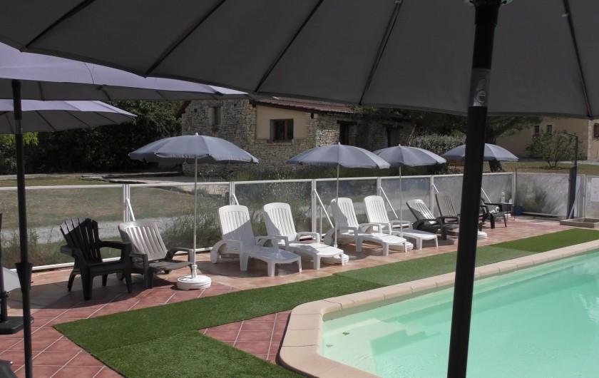 Location de vacances - Gîte à Salviac - Piscine chauffée