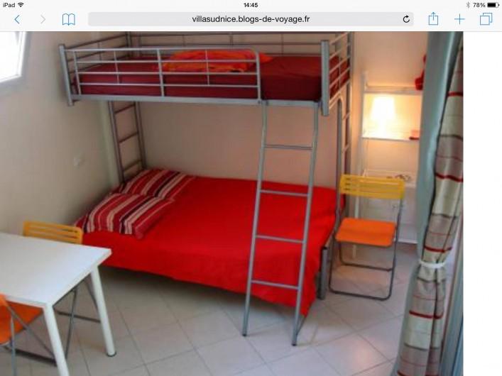 Location de vacances - Studio à Nice - lits double et superpose simple