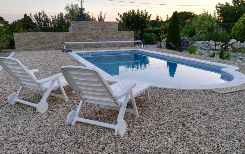 Location de vacances - Villa à Pujaut - Piscine, nouveauté 2017