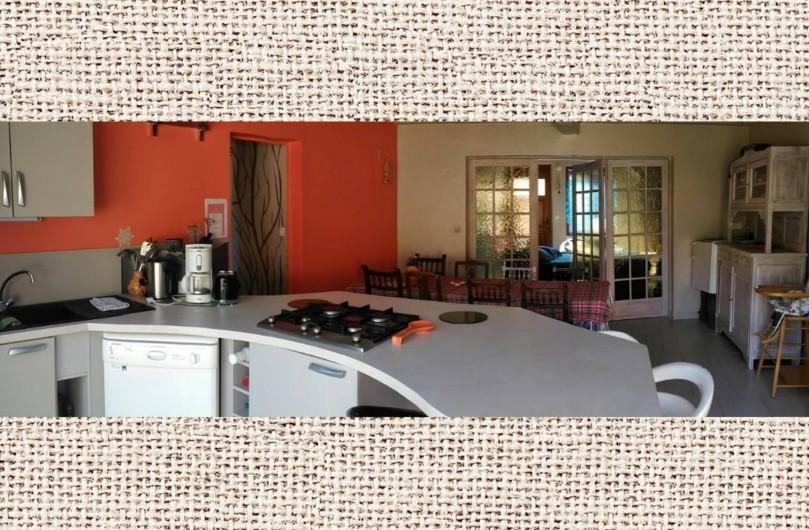 """Location de vacances - Gîte à Pont-Remy - Gîte 6/8 pers.   """"AUX10PONTS"""" salon/chambre  AUX GALETS"""
