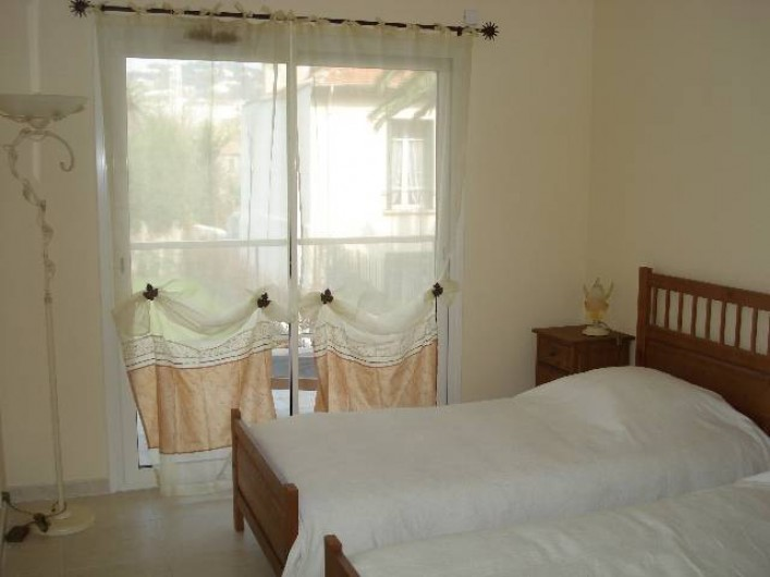 Location de vacances - Appartement à Cannes - Chambre à deux lits