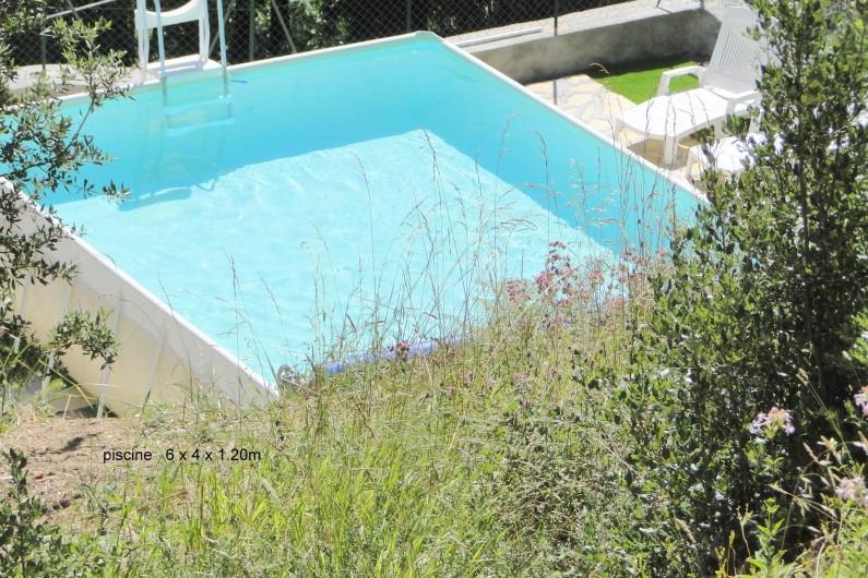 Location de vacances - Gîte à Notre-Dame-de-la-Rouvière - La piscine (6x4x1.20m)