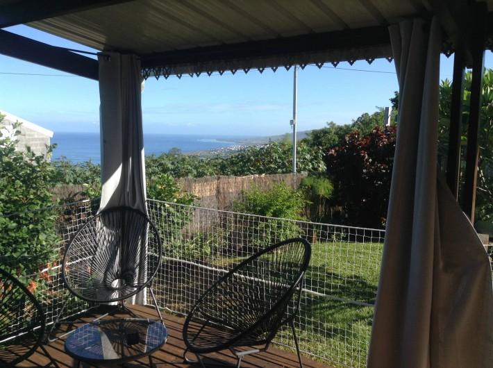 Location de vacances - Chalet à Saint-Leu - Vue mer depuis la varangue