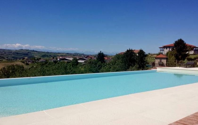 "Location de vacances - Chambre d'hôtes à Vigliano d'Asti - La piscine ""infinity"""