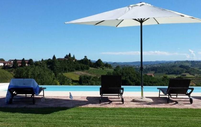 Location de vacances - Chambre d'hôtes à Vigliano d'Asti - Le jardin avec la piscine:quelle vue
