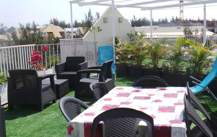 Location de vacances - Appartement à Saint-Paul - Pour les repas sur la terrasse