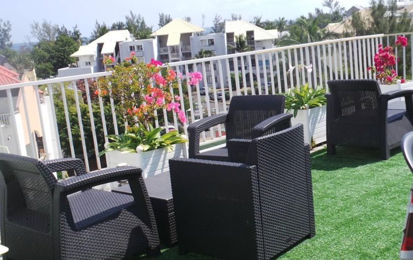 Location de vacances - Appartement à Saint-Paul - Un coin salon pour le coucher de soleil