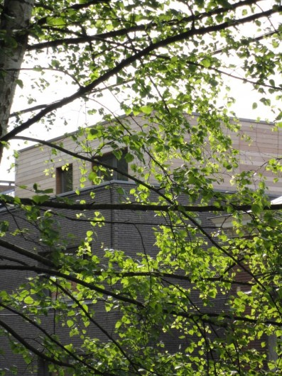 Location de vacances - Studio à Namur - Au 3°: le penthouse .Les studios se situent au 2° étage de cet immeuble neuf.