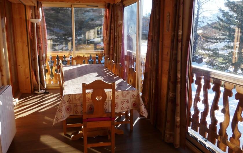 Location de vacances - Chalet à L'Alpe d'Huez - Salle a manger