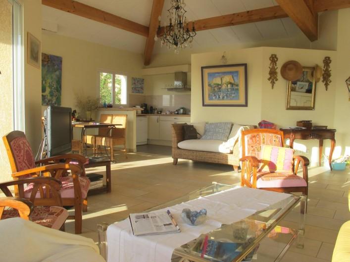 Location de vacances - Villa à Pietrosella - vue  du salom
