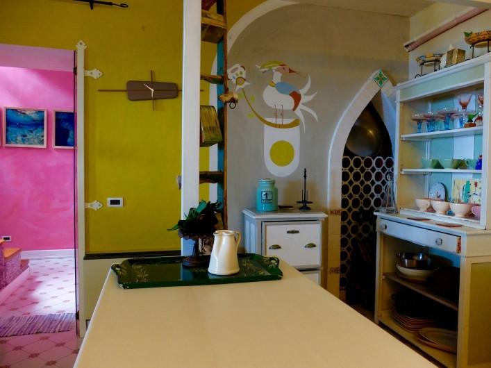 Location de vacances - Villa à Massa Lubrense - Vue sur la cuisine