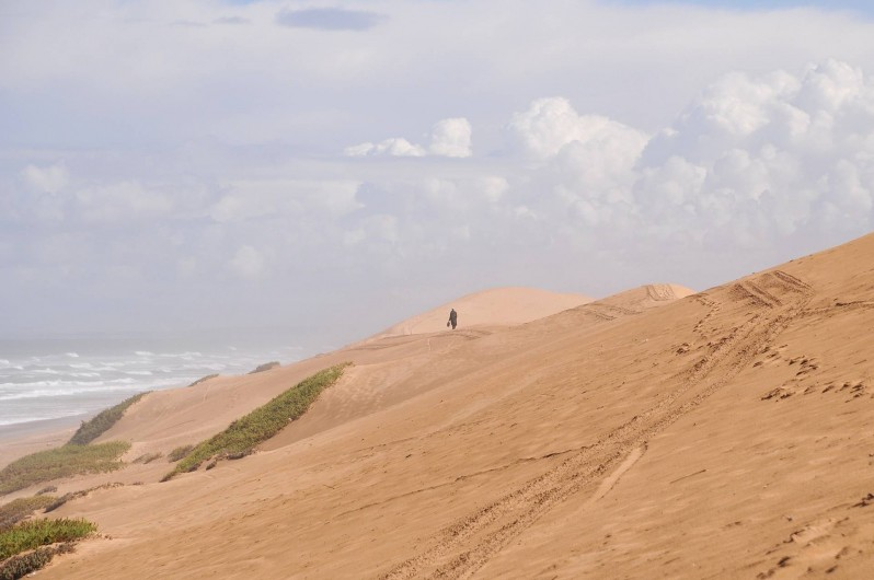 Location de vacances - Villa à Mirleft - La dune devant la plage