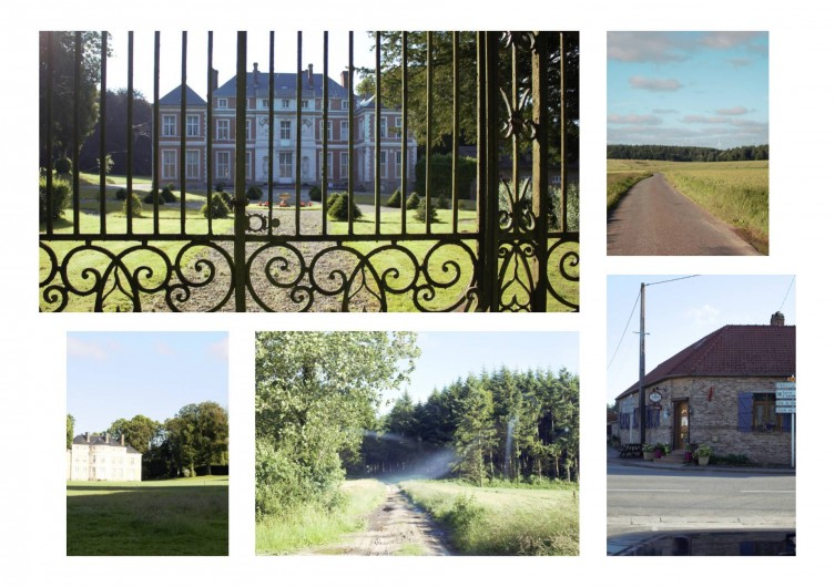 Location de vacances - Gîte à Brailly-Cornehotte - chateau, bar, bois du village