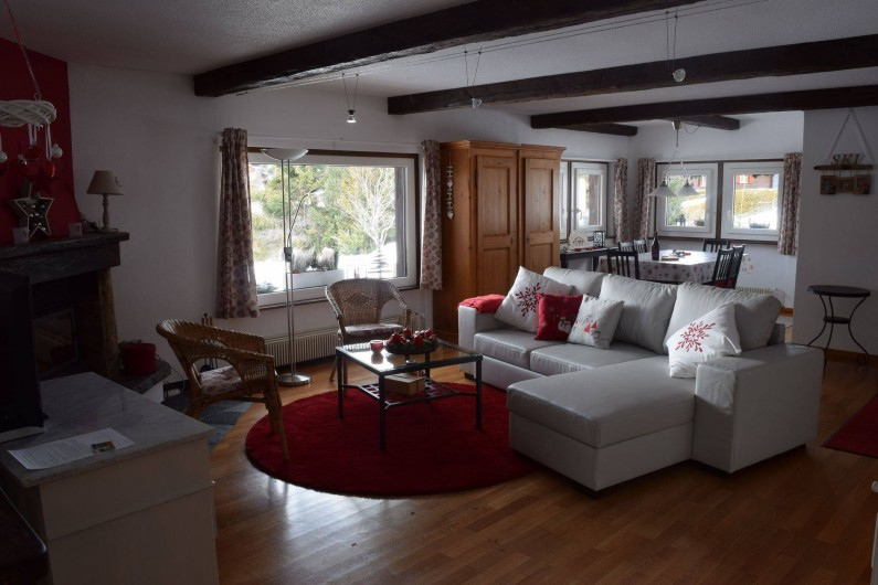Location de vacances - Appartement à Vercorin - Séjour - spacieux