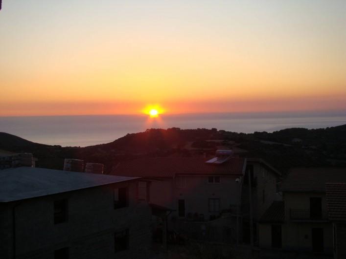 Location de vacances - Maison - Villa à Tresnuraghes - Notre coucher de soleil