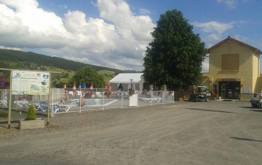 Location de vacances - Camping à Langogne - Entrée du camping