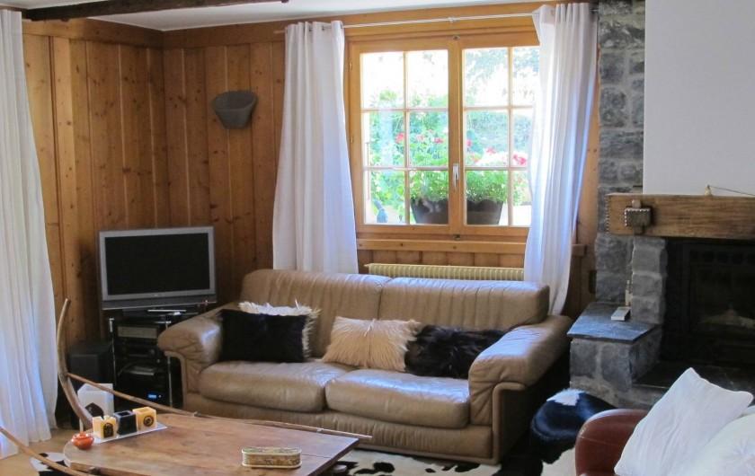 Location de vacances - Chalet à Bruson - coin salon