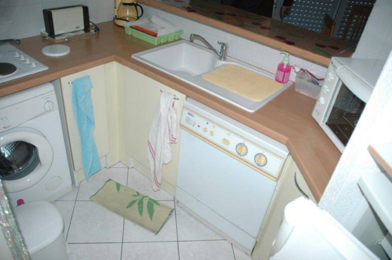 Location de vacances - Appartement à Canet-en-Roussillon - cuisine équipée,réfrigérateur,four lave vaisselle,lave linge,