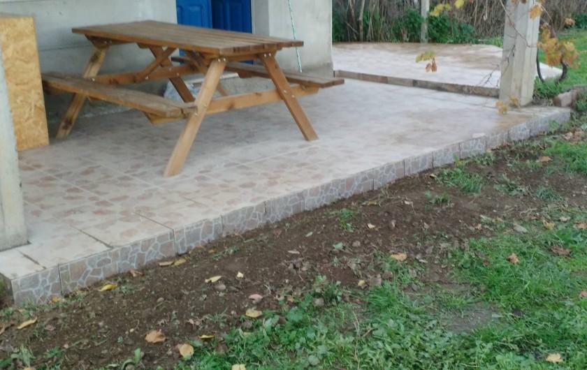 Location de vacances - Chalet à Guspini - La terrasse