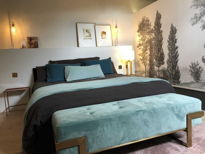 Location de vacances - Chambre d'hôtes à Saint-Paul-d'Espis - Suite Cypres & Acacias - chambre