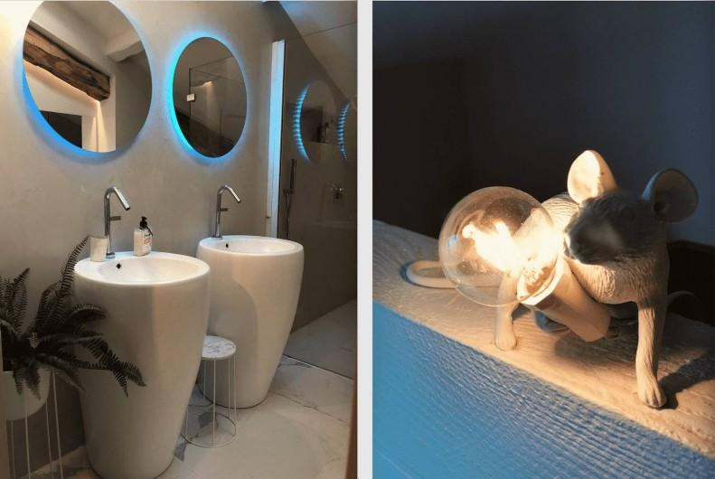 Location de vacances - Chambre d'hôtes à Saint-Paul-d'Espis - Suite Cypres & Acacias - Salle de douche