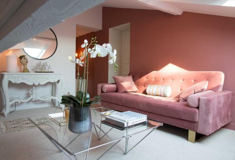 Location de vacances - Chambre d'hôtes à Saint-Paul-d'Espis - Suite Cypres & Acacias - Salon TV