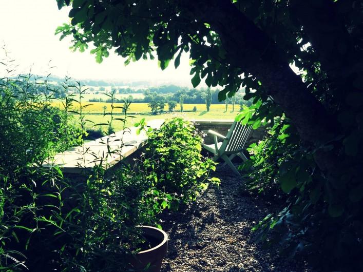 Location de vacances - Gîte à Villeréal - Un décors de calme et de verdure
