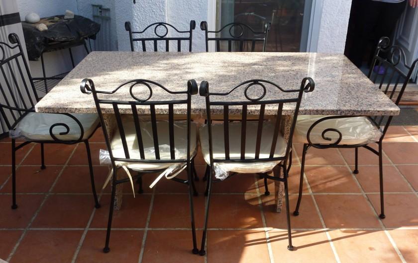Location de vacances - Chalet à Calp - table et chaises du jardin prive