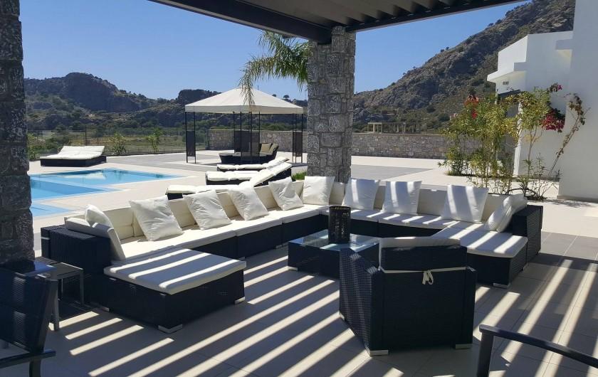 Location de vacances - Villa à Lindos - Salon extérieur
